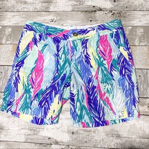 Lilly Pulitzer the Jayne feather pattern shorts